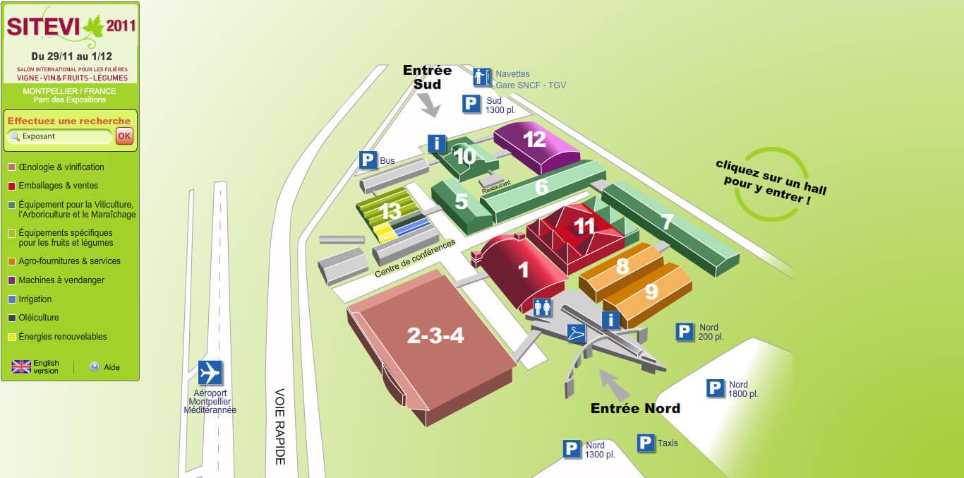 Plan SITEVI Montpellier 2011