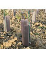 Pack plantation : 1 sac de 50 tuteurs tube + 1 sac de 50 manchons de protection ALVEO