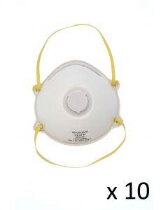 Masque jetable FFP3 avec soupape d'expiration - Spasciani