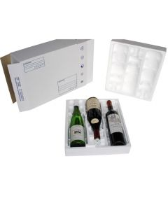 Coffret transport 3 bouteilles