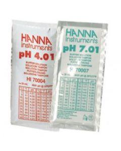Solutions d'étalonnage pH 4 et pH 7