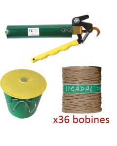 Pack e-viti : un lieur ligapal + un porte-pelote + 36 bobines de ficelle à lier
