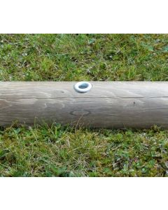 Amarre fixation rondin bois