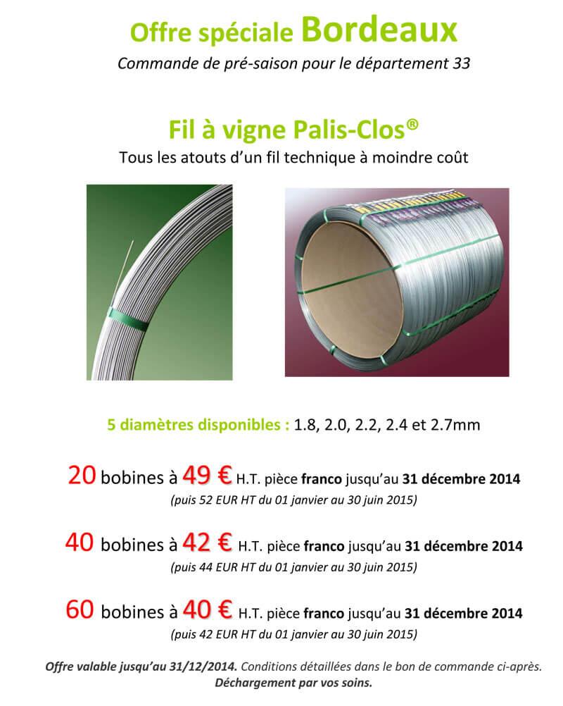 Offre Bordeaux Palis Clos