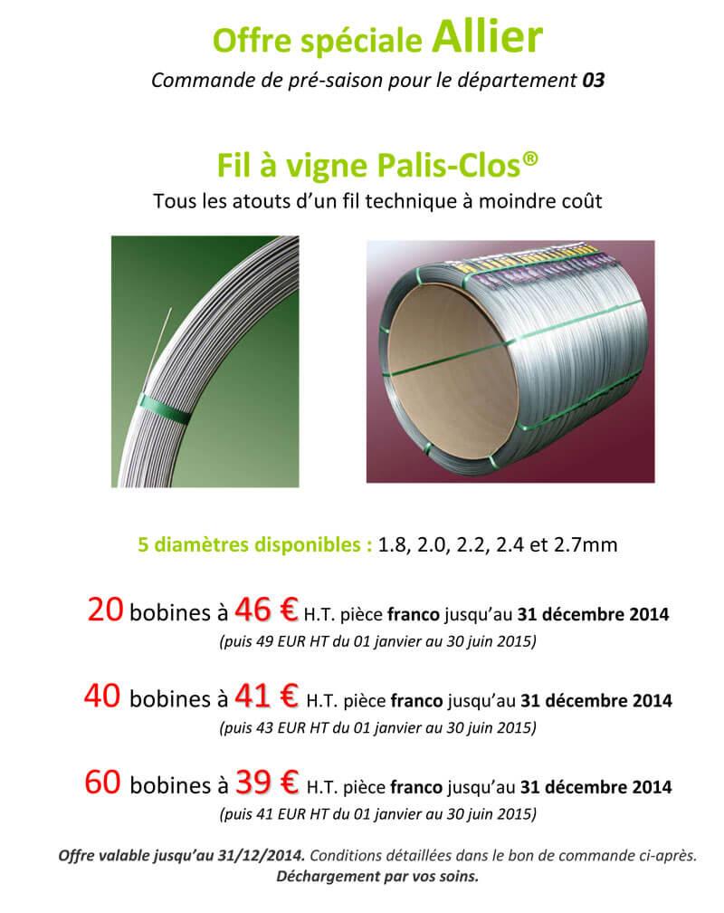 Offre Allier Palis Clos 2014