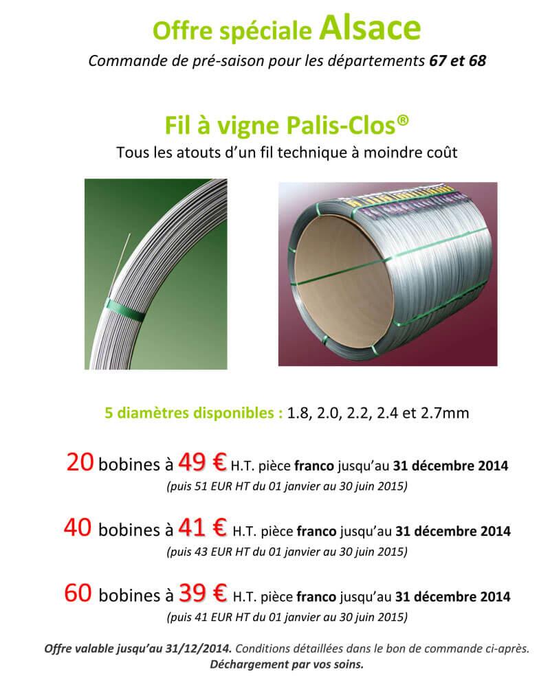 Offre Alsace Palis Clos 2014