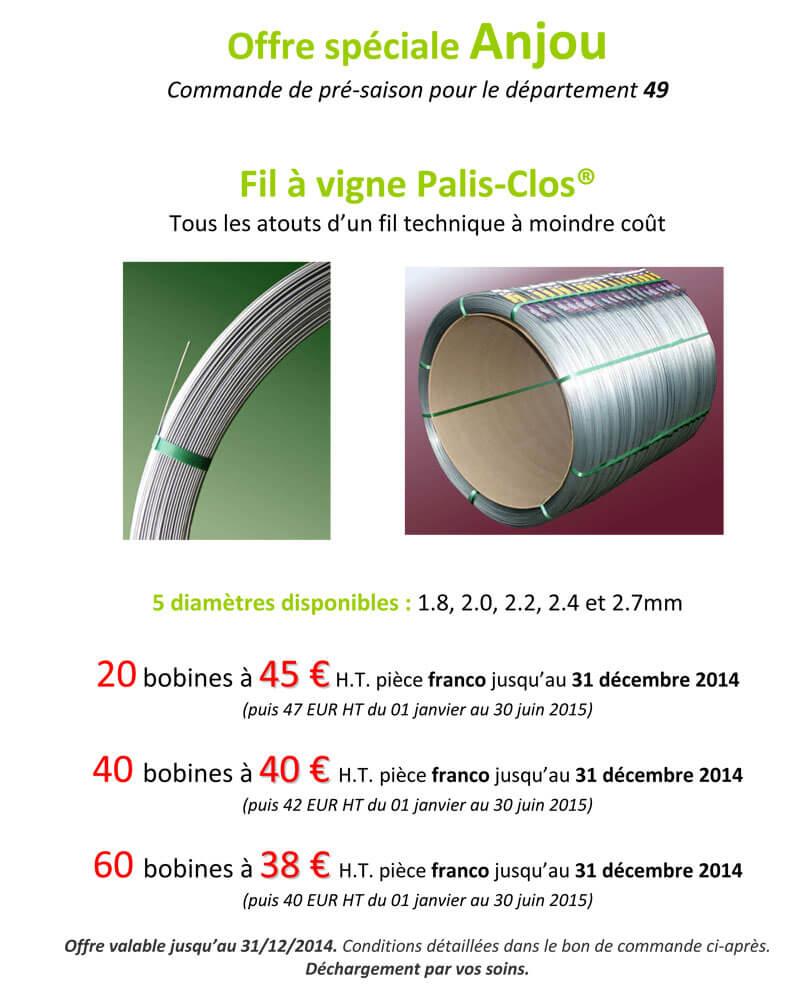 Offre Anjou Palis Clos 2014
