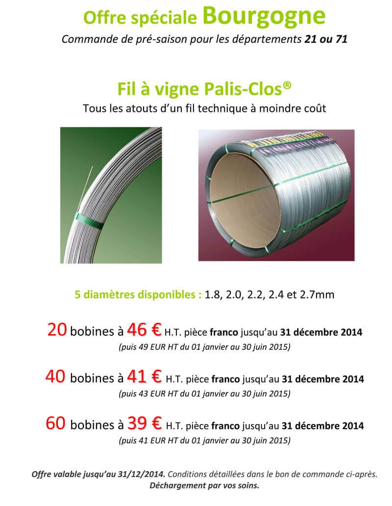 Offre bourgogne Palis Clos 2014