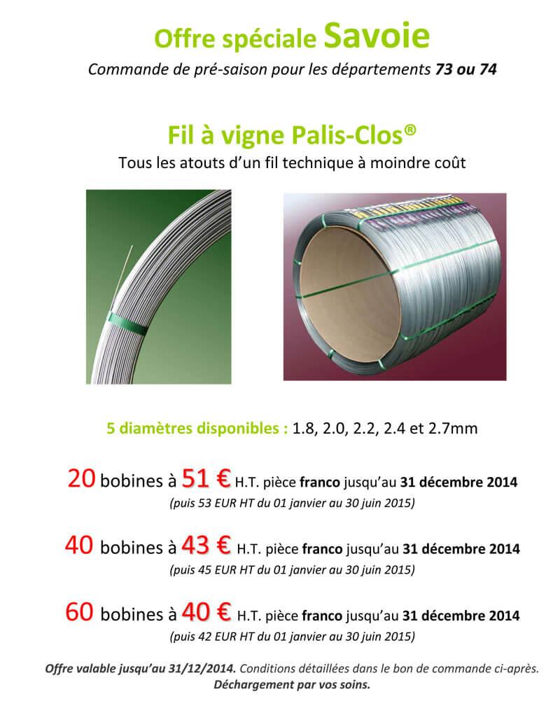 Offre Savoie Palis Clos 2014