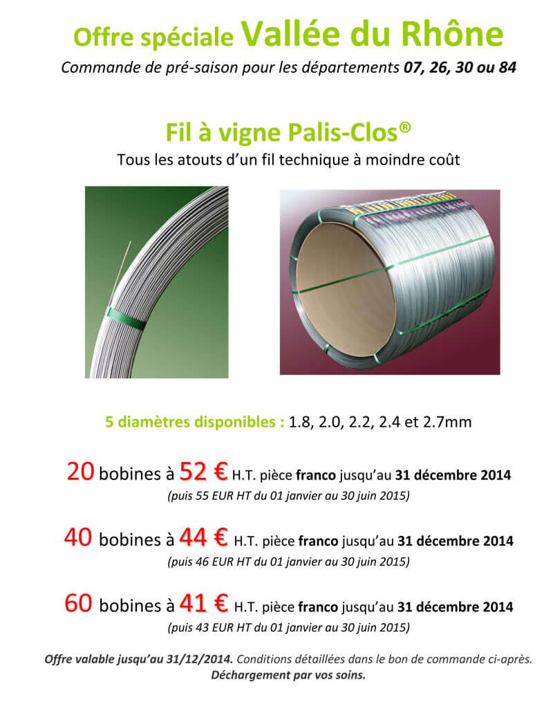 Offre Vallée du Rhône Palis Clos 2014