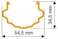 Dimensions du piquet LINUS