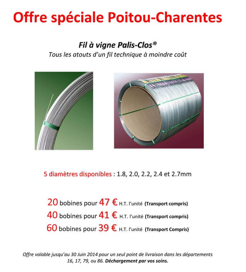 Offre Poitou Charentes Palis Clos